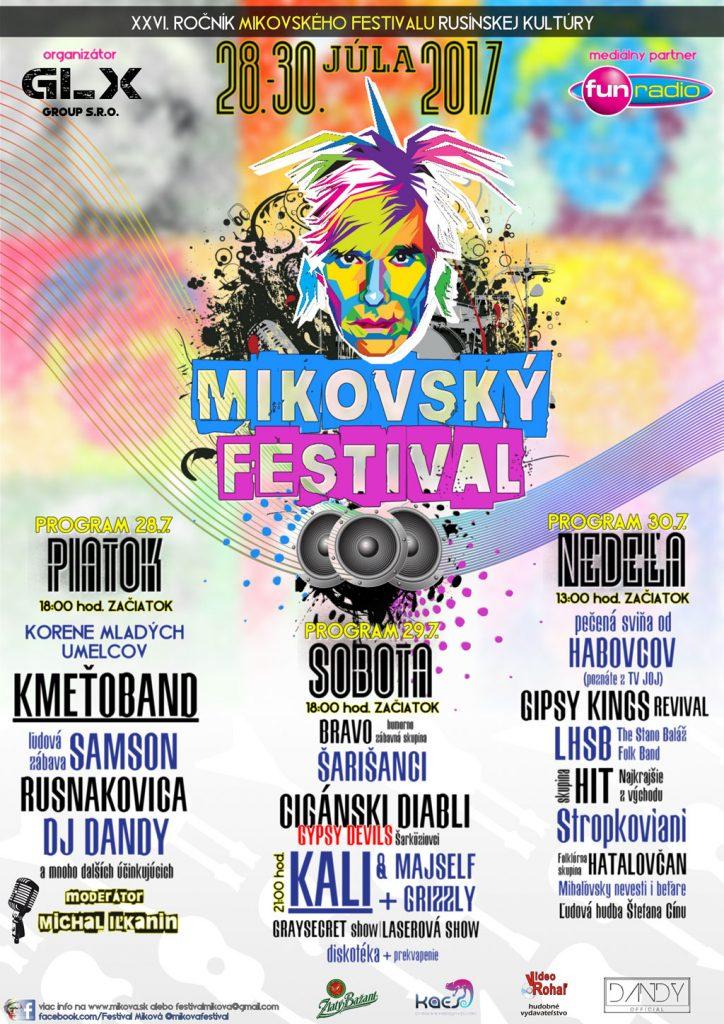 Plagát Mikovský festival 2017